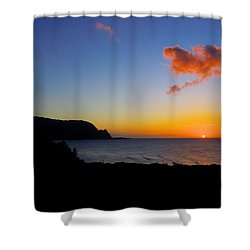 Hanalei Bay Sunset Shower Curtain by John  Greaves