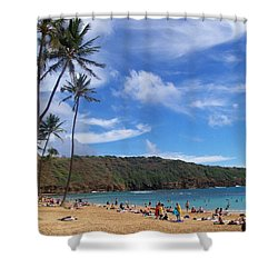 Hanauma Bay Oahu Hawaii Shower Curtain