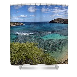 Hanauma Bay Panorama Shower Curtain
