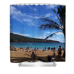 Hanauma Beach  Shower Curtain