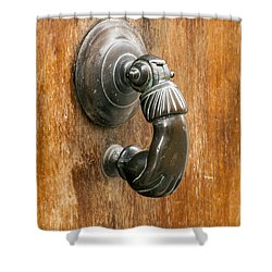 Hand Knocker Shower Curtain by Bob Phillips