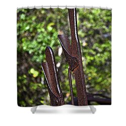 Hand Levers Shower Curtain