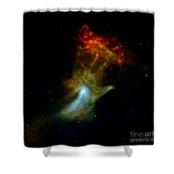 Hand Of God Pulsar Wind Nebula Shower Curtain by Science Source