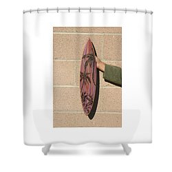 Hand Painted Palms Shower Curtain