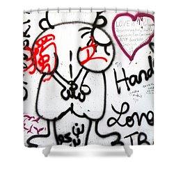 Handala Shower Curtain by Munir Alawi