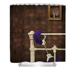 Handcuffs Shower Curtain by Amanda Elwell