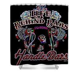 Handle Bars In Neon Shower Curtain