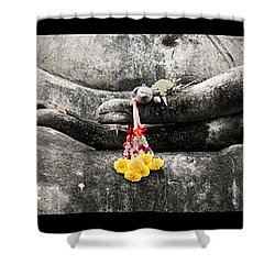 Hands Of Buddha Shower Curtain by Adrian Evans
