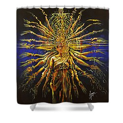 Hands Of Compassion Shower Curtain by Karina Llergo