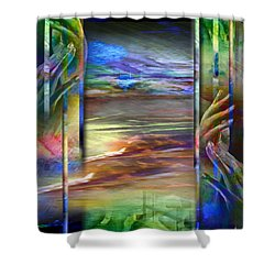 Hands-prisoned Shower Curtain
