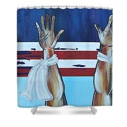 Hands Up Dont Shoot Shower Curtain