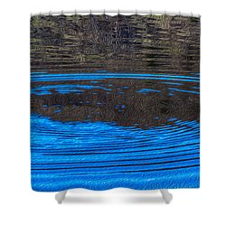 Handy Ripples Shower Curtain by Omaste Witkowski