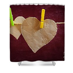 Hanged Heart Shower Curtain by Carlos Caetano