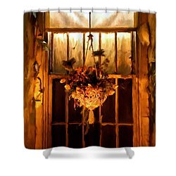 Hanging Basket Shower Curtain by Michael Pickett