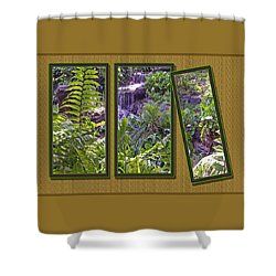 Shower Curtain featuring the photograph Hanging Ferns by Larry Bishop