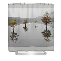 Hanging Garden Shower Curtain by Debra and Dave Vanderlaan