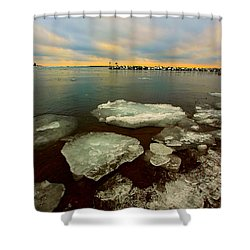 Shower Curtain featuring the photograph Hanging On by Amanda Stadther