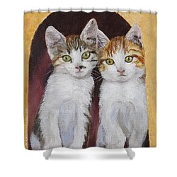 Hanging Out Together Shower Curtain
