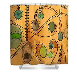 Hanging Ovals Shower Curtain