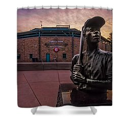 Hank Aaron Statue Shower Curtain