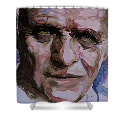 Shower Curtain featuring the painting Hannibal by Laur Iduc