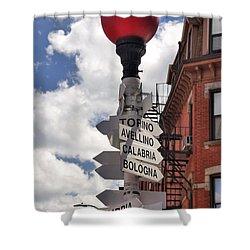 Hanover Street Boston North End Shower Curtain by Joann Vitali