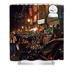 Hanover Street Nights - Boston Shower Curtain by Joann Vitali