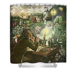 Hans Christian Andersen Shower Curtain by Anne Grahame Johnstone