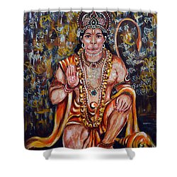 Hanuman Shower Curtain by Harsh Malik