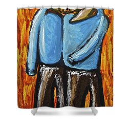Happiness 12-008 Shower Curtain by Mario Perron