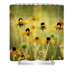 Happiness Shower Curtain by Joan McCool