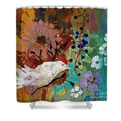 Shower Curtain featuring the painting Happiness by Robin Maria Pedrero