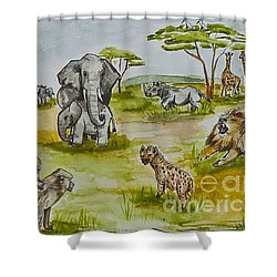 Happy Africa Shower Curtain