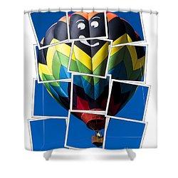 Happy Balloon Ride Shower Curtain by Edward Fielding