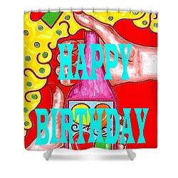 Happy Birthday 1 Shower Curtain by Patrick J Murphy