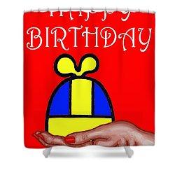 Happy Birthday 2 Shower Curtain by Patrick J Murphy