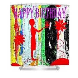 Happy Birthday 7 Shower Curtain by Patrick J Murphy