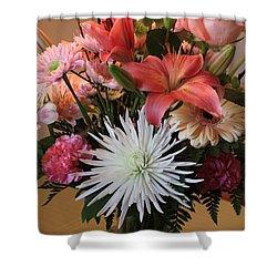Happy Birthday Card Shower Curtain by Carol Groenen