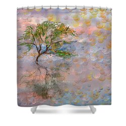 Happy Birthday Good Old Tree Shower Curtain by Angela A Stanton
