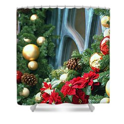 Shower Curtain featuring the photograph Happy Chirstmas by Rachel Mirror