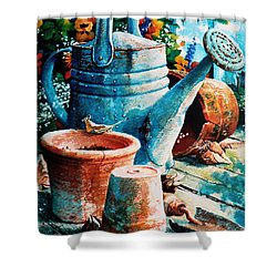 Happy Chores Shower Curtain by Hanne Lore Koehler
