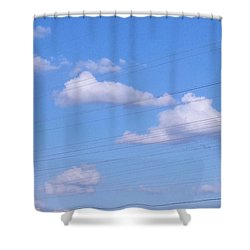 Happy Cloud Day Shower Curtain