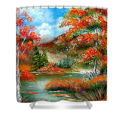Happy Ever After Autumn  Shower Curtain by Patrice Torrillo