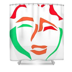 Happy Face Shower Curtain by Delin Colon