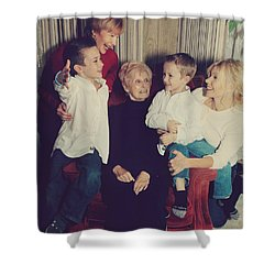 Happy Family Shower Curtain by Laurie Search