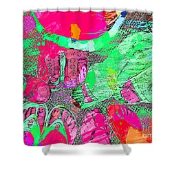 Happy Feet Abstract Photoart Shower Curtain by Debbie Portwood