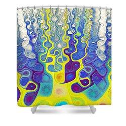 Happy Felt Shower Curtain by Anastasiya Malakhova