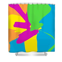 Original Contemporary Abstract Painting Happy Flowers Shower Curtain by RjFxx at beautifullart com