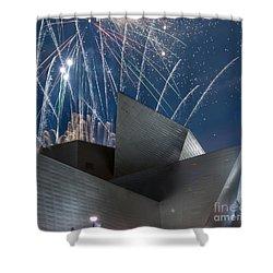 Happy Fourth Shower Curtain by Juli Scalzi