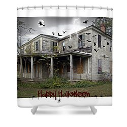 Happy Halloween Shower Curtain by Brian Wallace